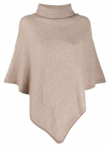 LIU JO poncho-style knit sweater - NEUTRALS