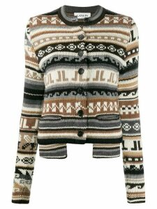 LANVIN intarsia-knit cardigan - White