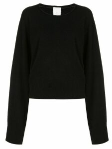 PHAEDO STUDIOS cut-out back boxy sweater - Black
