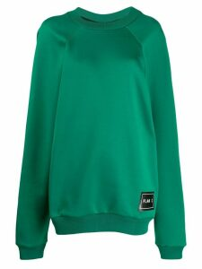 Plan C logo patch oversized sweatshirt - Green