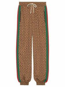 Gucci monogram print track pants - Brown