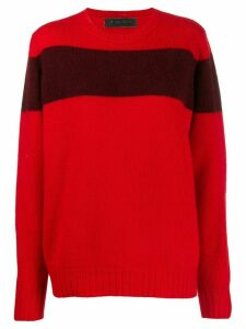 The Elder Statesman contrast stripe jumper - Red