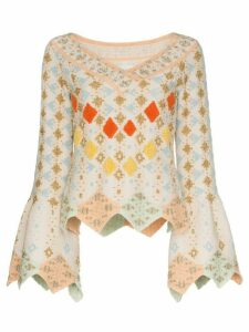 Peter Pilotto geometric knitted top - Neutrals