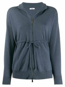 Peserico zipped fitted cardigan - Blue