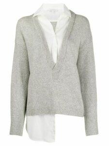Patrizia Pepe V-neck shirt pullover - Grey