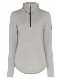 Canada Goose zip-up fine knit jumper - Grey