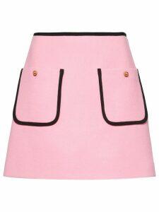 Miu Miu flared knitted skirt - PINK
