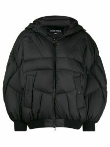 Chen Peng oversized puffer jacket - Black