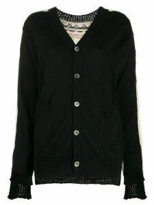 Junya Watanabe fair isle pattern cardigan - Black