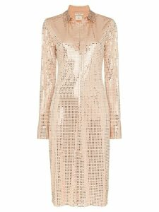 Bottega Veneta sequinned shirt dress - NEUTRALS