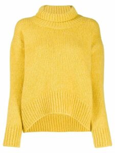 Ermanno Scervino ribbed roll neck jumper - Yellow