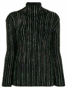 Ermanno Scervino metallic roll neck jumper - Black