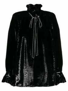 Saint Laurent crystal embellished poet blouse - Black