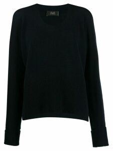Maison Flaneur round-neck knit sweater - Blue