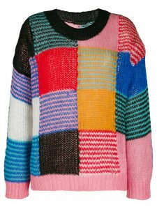 Stine Goya patchwork jumper - Black