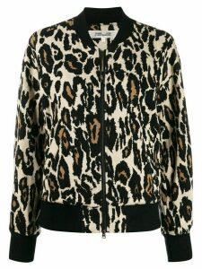 DVF Diane von Furstenberg animal print bomber jacket - NEUTRALS