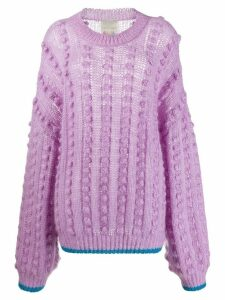 Marco De Vincenzo Pompom knitted jumper - PURPLE