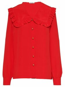 Miu Miu crepe de chine blouse - Red