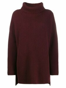 Joseph loose fit turtleneck jumper - Red