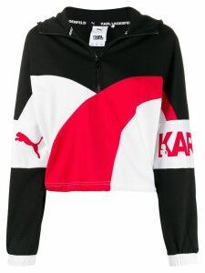 Puma x Karl Lagerfeld colour block hoodie - White
