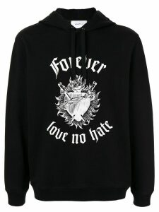 Ports V gothic typeface graphic hoodie - Black