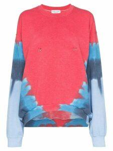 Collina Strada pierced contrast print sweatshirt - Red