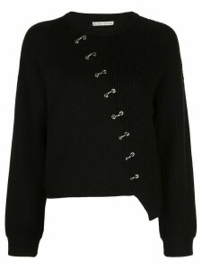Alice+Olivia Elyse panelled knit jumper - Black