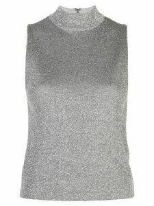 Alice+Olivia sparkle-effect turtleneck tank top - Silver