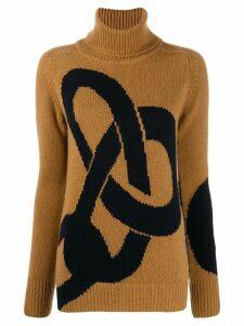 Victoria Beckham cashmere chain intarsia jumper - Brown