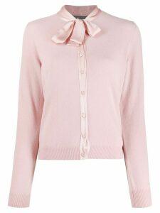 Alberta Ferretti bow detail cardigan - Pink