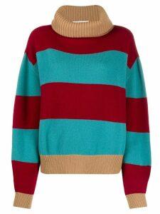 Société Anonyme Lili block stripe jumper - Red