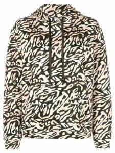 Fleur Du Mal tiger-print hoodie - Black
