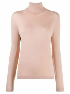 Red Valentino RED(V) ribbed roll neck jumper - PINK