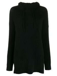 GANNI oversized knitted hoodie - Black