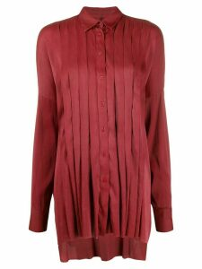 Masnada pleated loose-fit shirt - Red