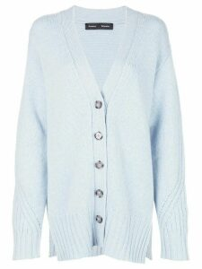 Proenza Schouler oversized cardigan - Blue