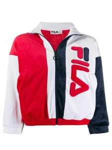 Fila cropped zipped logo sweater - Red