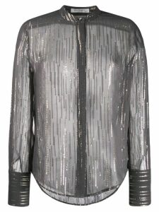 Equipment metallic stripe shirt - Black