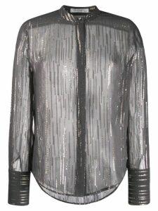 Equipment metallic stripe shirt - Black