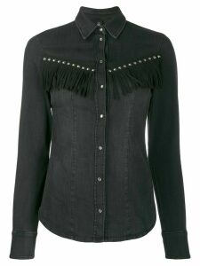 LIU JO studded denim shirt - Black