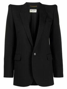 Saint Laurent dramatic shoulders blazer - Black