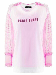 Frankie Morello tulle-layer ruffled sweatshirt - Pink