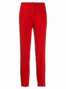 Courrèges split seam mid-rise trousers - Red