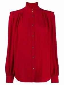 Nº21 ruffle neck shirt - Red