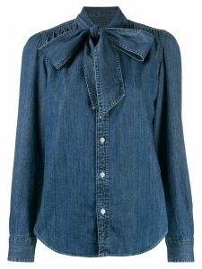 Polo Ralph Lauren pussy bow denim shirt - Blue