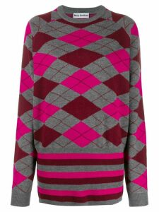 Molly Goddard Argyle knit jumper - Grey