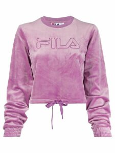 Fila crew neck cropped sweatshirt - PURPLE