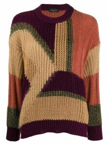 Roberto Collina color-block knit sweater - Brown