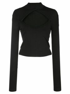 Fleur Du Mal cut-out knit top - Black