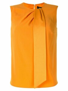 Paule Ka sleeveless ribbon detail blouse - ORANGE